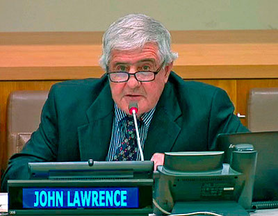 Dr.John E.S. Lawrence Presenting at the Seventh Annual Psychology Day at the United Nations Secretariat April 24th, 2014.